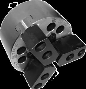 ПКСА-160.2.С130  Патрон токарный механизированный самоцентрирующий двухкулачковый 160 мм. с центрирующим пояском по DIN6350