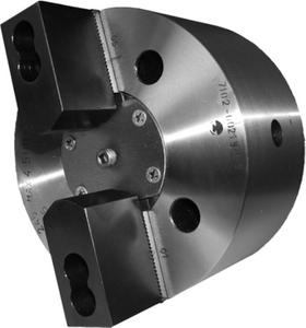 7102-0021М-1-2  Патрон токарный механизированный самоцентрирующий двухкулачковый 200 мм. с креплением непосредственно на фланцевый конец шпинделя по ГОСТ 12595 (DIN 55026)