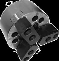 ПКСА-125.С100  Патрон токарный механизированный самоцентрирующий трёхкулачковый 125 мм. с центрирующим пояском по DIN6350