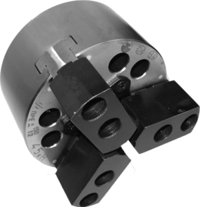ПКСА-160.С130  Патрон токарный механизированный самоцентрирующий двухкулачковый 160 мм. с центрирующим пояском по DIN6350