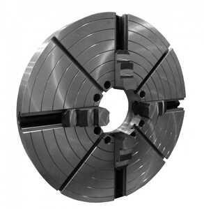 7103-0062Б Патрон токарный четырёхкулачковый 1250 мм. с независимым перемещением кулачков и зубчатым венцом для силового точения (с креплением непосредственно на фланцевый конец шпинделя по ГОСТ 12595 (DIN 55026))