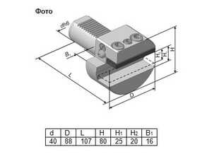 291.341.121А Резцедержатель радиальный с перпендикулярным пазом левый со сменной планкой