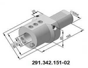 291.342.151-02 Резцедержатель для инструмента с цилиндрическим хвостовиком Ø 20 мм.