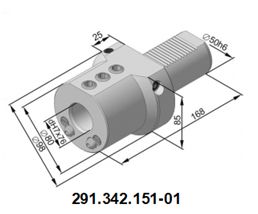 291.342.151-01 Резцедержатель для инструмента с цилиндрическим хвостовиком Ø 25 мм.