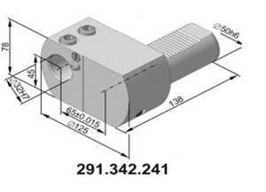 291.342.241 Резцедержатель для инструмента с цилиндрическим хвостовиком Ø 32 мм.