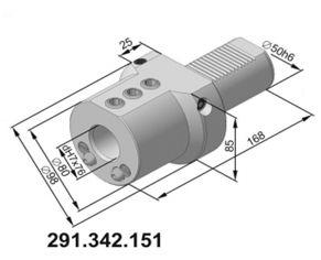 291.342.151 Резцедержатель для инструмента с цилиндрическим хвостовиком Ø 32 мм.
