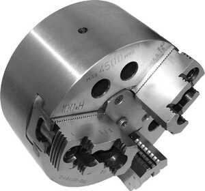 7102-0071М-1-2  Патрон токарный механизированный самоцентрирующий трёхкулачковый 200 мм. с креплением непосредственно на фланцевый конец шпинделя по ГОСТ 12595 (DIN 55026)