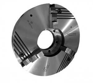 ПР-630.254.К15 Патрон токарный клинореечный самоцентрирующий трёхкулачковый 630 мм. с креплением непосредственно на фланцевый конец шпинделя по ГОСТ 12595 (DIN 55026)